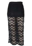 Kiss And Control Midi Skirt by Evil Twin | Shop Online - Saint Bowery