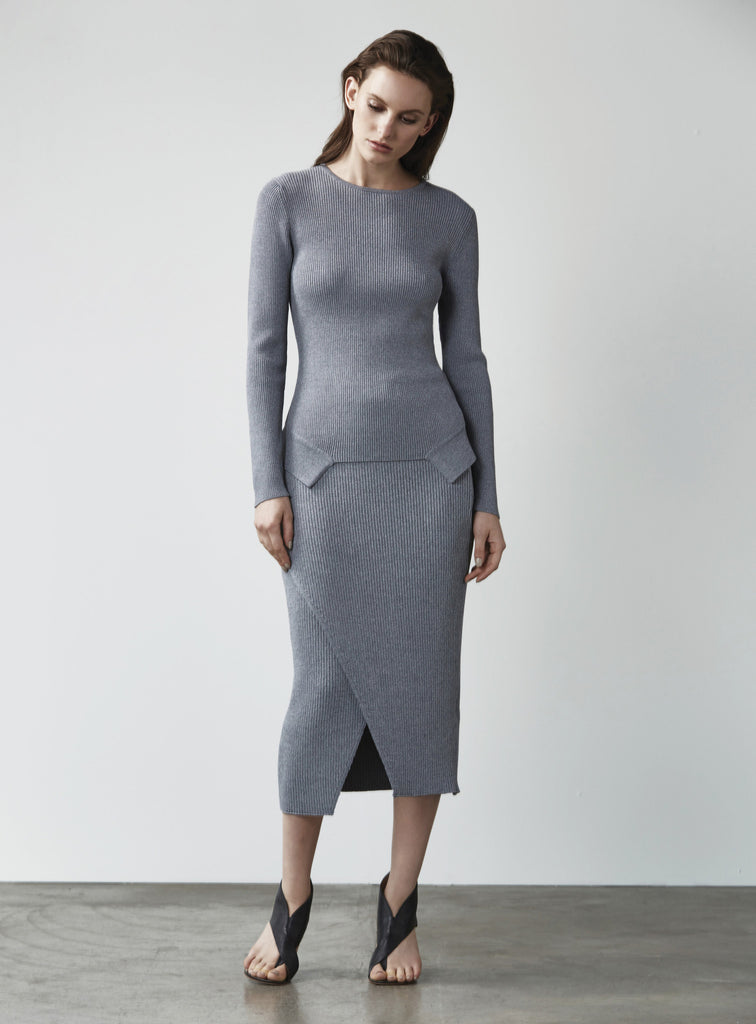 The Breakdown Knit Skirt by C/meo Collective | Shop Online - Saint Bowery