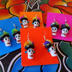 Frida Calaca Earrings