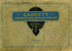 Garrett Undertype Steam Wagon Catalogue c. 1924  DIGITAL ORIGINAL