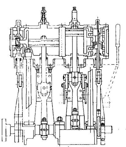 Leak 'Small' Marine Compound Engine Drawings (A3 size