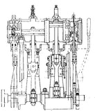 Leak 'Small' Marine Compound Engine Drawings (A3 size)