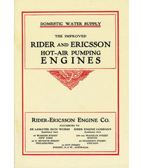 Rider-Ericsson Hot Air Pumping Engine Catalogue 1906