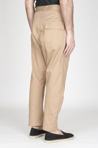 Strategic Business Unit - 00740 - Pantaloni Da Lavoro 2 Pinces Giapponesi In Cotone Beige - Japanese 2 Pinces Work Pants In Beige Cotton - ベージュコットンの日本製ワークパンツ2本