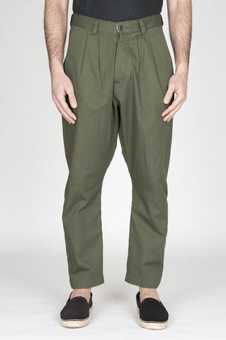 Strategic Business Unit - 00743 - Pantaloni Da Lavoro 2 Pinces Giapponesi In Cotone Verde - Japanese 2 Pinces Work Pants In Green Cotton - 日本のワークパンツ、2インチのグリーンコットン