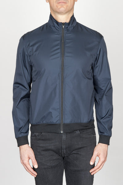 Strategic Business Unit - 00747 - Giubbino Windbreaker Antivento In Nylon Ultra Leggero Blue - Windbreaker Jacket In Blue Ultra Lightweight Nylon - 超軽量ナイロンのウインドブレーカージャケット