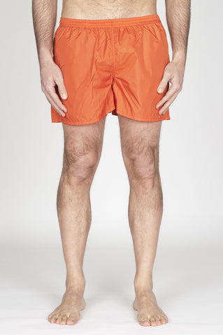 Strategic Business Unit - 00751 - Costume Pantaloncino Classico In Nylon Ultra Leggero Arancione - Swimsuit Classic Trunks In Orange Ultra Lightweight Nylon - 超軽量ナイロンのオレンジ色の水着クラシックトランク