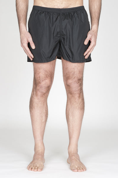 Strategic Business Unit - 00752 - Costume Pantaloncino Classico In Nylon Ultra Leggero Nero - Swimsuit Classic Trunks In Black Ultra Lightweight Nylon - ナイロンの超軽量ナイロンの水着クラシックトランク