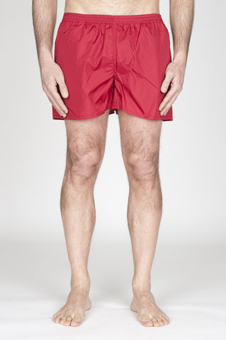 Strategic Business Unit - 00755 - Costume Pantaloncino Classico In Nylon Ultra Leggero Rosso - Swimsuit Classic Trunks In Red Ultra Lightweight Nylon - 超軽量ナイロンの赤い水着クラシックトランク