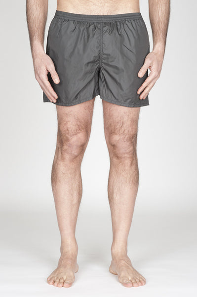 Strategic Business Unit - 00756 - Costume Pantaloncino Classico In Nylon Ultra Leggero Grigio - Swimsuit Classic Trunks In Grey Ultra Lightweight Nylon - ナイロンの超軽量ナイロンの水着クラシックトランク