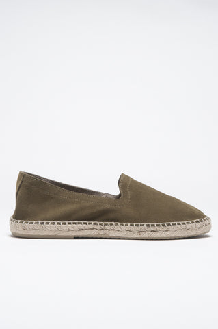 Strategic Business Unit - 00817 - Espadrillas Originali In Pelle Di Vitello Scamosciata Suola In Gomma Verde - Original Green Suede Leather Espadrilles Rubber Sole - 元の緑のスエードレザーespadrillesラバーソール