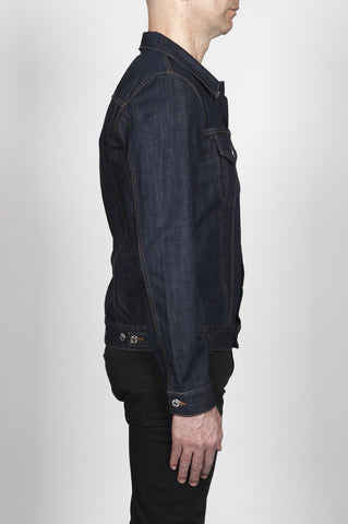 Strategic Business Unit - 00268 - Giubbino Jeans In Denim Giapponese Indaco Lavaggio Enzimatico - Jean Jacket In Japanese Denim Indigo Dyed Enzyme Washed - 日本のデニムのインディゴ染め酵素でジーンズのジャケットを洗浄します