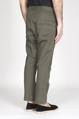 Strategic Business Unit - 00329 - Pantaloni Da Lavoro Giapponesi In Cotone Stretch Verdi - Japanese Work Pants In Green Stretch Cotton - 緑のストレッチコットンで日本のワークパンツ