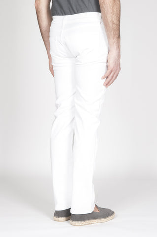 Strategic Business Unit - 00330 - Jeans Classico Slim Fit Taglio Anatomico Sovrattinto Bianco - White Overdyed Classic Slim Fit Jeans With Anatomic Cut - 解剖学的カットと白いoverdyed古典的なスリムフィットジーンズ