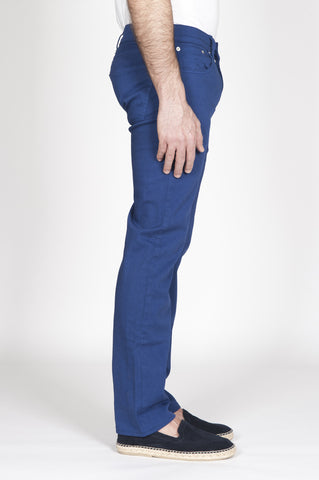 Strategic Business Unit - 00331 - Jeans Classico Slim Fit Taglio Anatomico Sovrattinto Blue - Blue Overdyed Classic Slim Fit Jeans With Anatomic Cut - 解剖学的カット青overdyed古典的なスリムフィットジーンズ