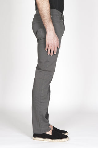 Strategic Business Unit - 00333 - Jeans Classico Slim Fit Taglio Anatomico Sovrattinto Grigio - Grey Overdyed Classic Slim Fit Jeans With Anatomic Cut - 解剖学的カットグレーoverdyed古典的なスリムフィットジーンズ