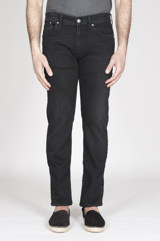 Strategic Business Unit - 00338 - Jeans Nero Tinto China In Stretch Denim Giapponese Lavaggio Scuro - Original Ink Dyed Japanese Stretch Denim Black Jeans Dark Wash - オリジナルインク染め日本のストレッチデニム黒のジーンズダークウォッシュ
