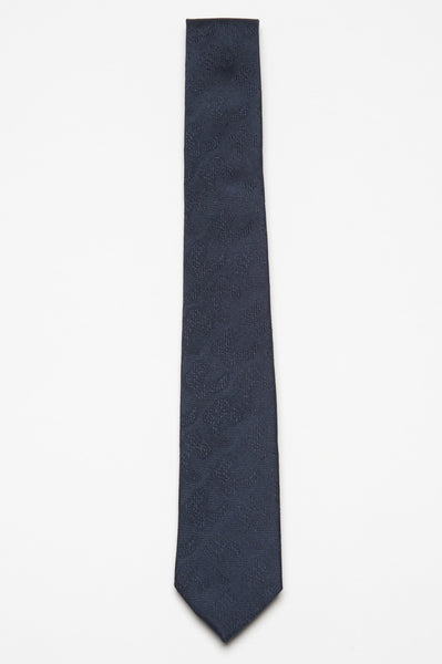 Strategic Business Unit - 00375 - Cravatta Skinny Di Seta A Punta Blue Fantasia - Skinny Blue Silk Pointed Tie Micro Patterned - スキニー青い絹のネクタイのマイクロパターン化指し示さ