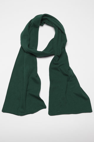 Strategic Business Unit - 00388 - Sciarpa Classica Da Uomo In Costina Di Cotone Verde - Classic Green Rib Cotton Spring Scarf For Men - 男性のための古典的な緑のリブコットン春のスカーフ