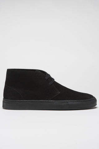 Strategic Business Unit - 00389 - Polacchina Classica In Pelle Scamosciata Nera - Classic Calf Suede Leather Black Mid Top Chukka Boot - 古典的なカーフスエードレザー黒ミッドトップチャッカブーツ