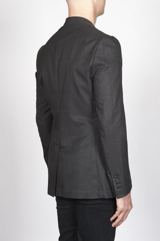 Strategic Business Unit - 00395 - Giacca Sfoderata Monopetto 2 Bottoni In Misto Cotone E Seta Grigia - Single Breasted Unlined 2 Button Jacket In Grey Cotton And Silk Blend - グレーコットンとシルクのブレンド中のシングルブレスト裏地なし2ボタンジャケット