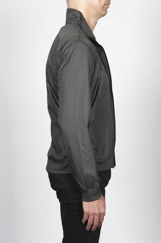 Strategic Business Unit - 00408 - Giubbino Windbreaker In Nylon Grigio Ultra Leggero - Windbreaker Jacket In Grey Ultra Lightweight Nylon - 灰色の超軽量のナイロンでウインドブレーカージャケット