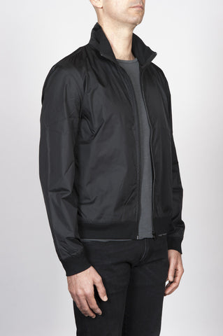 Strategic Business Unit - 00409 - Giubbino Windbreaker In Nylon Nero Ultra Leggero - Windbreaker Jacket In Black Ultra Lightweight Nylon - 黒の超軽量のナイロンでウインドブレーカージャケット