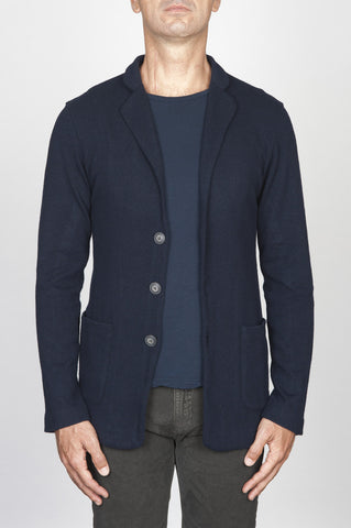 Strategic Business Unit - 00434 - Giacca Sfoderata Monopetto In Misto Lana E Cachemire Blue - Single Breasted Unlined Jacket In Blue Cashmere Blend - ブルーカシミヤブレンド中のシングルブレスト裏地なしジャケット