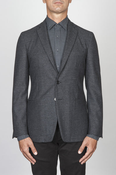 Strategic Business Unit - 00445 - Giacca Sfoderata Monopetto 2 Bottoni In Pura Lana Spina Grigia - Single Breasted Unlined 2 Button Pure Wool Grey Herringbone Tweed Jacket - シングルブレスト裏地なし2ボタン純毛グレーヘリンボーンツイードのジャケット