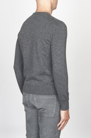 Strategic Business Unit - 00453 - Maglia Classica Girocollo In Puro Cachemire Grigio - Classic Crew Neck Sweater In Grey Cashmere - グレーのカシミアでクラシックなクルーネックセーター