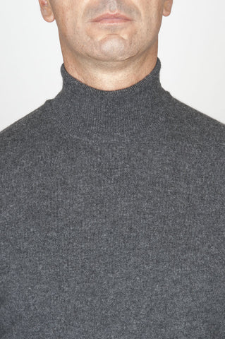 Strategic Business Unit - 00459 - Maglia Classica A Collo Alto In Puro Cachemire Grigia - Classic Turtleneck Sweater In Grey Pure Cashmere - 灰色の純粋なカシミヤで古典的なタートルネックのセーター