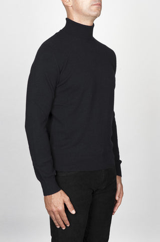 Strategic Business Unit - 00460 - Maglia Classica A Collo Alto In Puro Cachemire Nera - Classic Turtleneck Sweater In Black Pure Cashmere - 黒の純粋なカシミヤで古典的なタートルネックのセーター