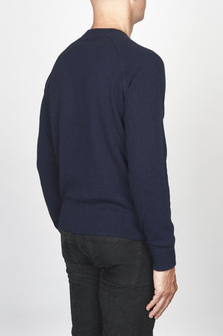Strategic Business Unit - 00467 - Maglia Classica Girocollo Raglan In Puro Cachemire Blue Navy - Classic Raglan Crew Neck Sweater In Navy Blue Cashmere - ネイビーブルーのカシミアで古典的なラグランクルーネックセーター