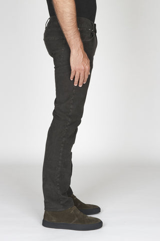 Strategic Business Unit - 00493 - Jeans Velluto Millerighe Stretch Sovratinto Marrone - Jeans Overdyed Stretch Ribbed Velvet Brown - ジーンズoverdyedストレッチリブ付きベルベットのブラウン