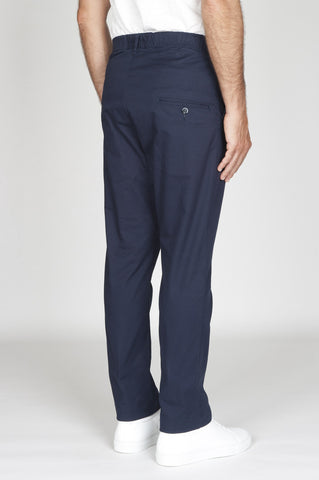 Strategic Business Unit - 00531 - Pantaloni Da Lavoro Giapponesi In Cotone Stretch Blue - Japanese Work Pants In Blue Stretch Cotton - ブルーストレッチコットンで日本のワークパンツ