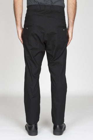 Strategic Business Unit - 00532 - Pantaloni Da Lavoro Giapponesi In Cotone Stretch Nero - Japanese Work Pants In Black Stretch Cotton - 黒のストレッチコットンで日本のワークパンツ