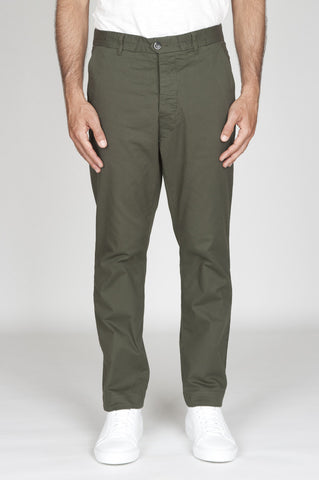 Strategic Business Unit - 00533 - Pantaloni Da Lavoro Giapponesi In Cotone Stretch Verde - Japanese Work Pants In Green Stretch Cotton - 緑のストレッチコットンで日本のワークパンツ