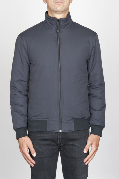 Strategic Business Unit - 00541 - Giubbino Bomber Tecnico Antivento Imbottito Nero - Bomber Jacket Padded Winter Windbreaker Black - ボマージャケットパッド入りの冬のウインドブレーカーブラック