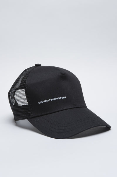 Strategic Business Unit - 00549 - Trucker Cap Classico Di Cotone Nero - Classic Cotton Trucker Cap Black - 古典的な綿のトラック運転手キャップ黒に