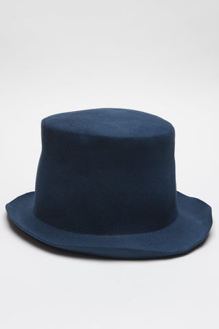 Strategic Business Unit - 00566 - Cappello Scultura In Feltro Di Coniglio Blue - Sculptural Hat In Blue Rabbit Fur Felt - 青ウサギの毛皮で彫刻ハットフェルト