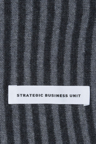Strategic Business Unit - 00585 - Sciarpa Classica Da Uomo Misto Cachemire Rigata Grigia E Nera - Classic Striped Winter Scarf In Cashmere Blend Grey And Black - カシミヤブレンドグレーと黒でクラシックなストライプの冬のスカーフ