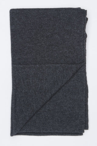 Strategic Business Unit - 00588 - Sciarpa Classica Da Uomo Misto Cachemire Grigia - Classic Winter Scarf In Grey Cashmere Blend - ブルーカシミヤブレンド中の古典的な冬のスカーフ