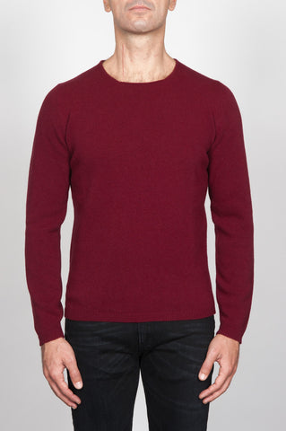 Strategic Business Unit - 00090 - Pullover Giro Collo A Taglio Vivo Rosso In Pura Lana - Round Neck Sweater In Red Wool Raw Cut Neckline - 赤いウール生のカットネックラインラウンドネックセーター