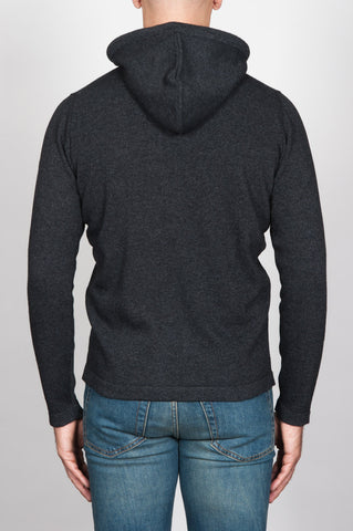 Strategic Business Unit - 00093 - Pullover Taglio Felpa Con Cappuccio Grigio In Misto Cachemire - Men'S Hooded Sweater In Grey Wool And Cashmere Blend - グレーのウールとカシミアのブレンド中のメンズフード付きセーター
