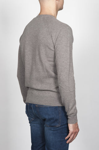 Strategic Business Unit - 00106 - Pullover Raglan Collo A Taglio Vivo Tortora In Lana Merino - Raglan Sweater In Turtledove Merino Wool Raw Cut Neckline - キジバトメリノウール生のカットネックラインINラグランセーター
