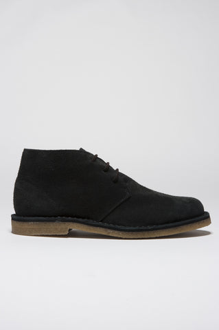 Strategic Business Unit - 00129 - Classic Desert Boots Grigie In Pelle Scamosciata - Classic Desert Boot In Dark Grey Suede Leather - 濃いグレーのスエードレザークラシック砂漠のブーツ