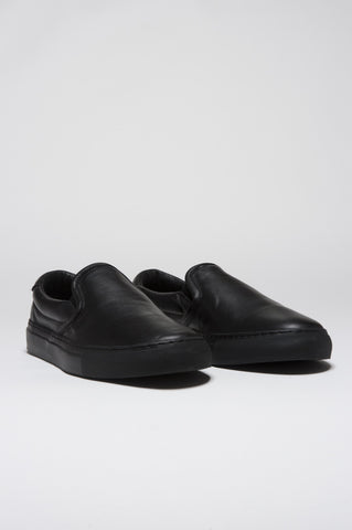 Strategic Business Unit - 00137 - Original Slip On Nere In Pelle Di Vitello - Original Slip On In Black Leather - 黒い革で上の元のスリップ