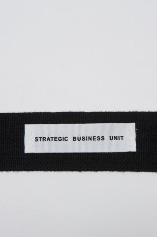 Strategic Business Unit - 00140 - Cravatta In Maglia Di Lana Merino Nera - Skinny Wool Knit Tie In Black Merino Wool  - 黒メリノウールスキニーウールニットネクタイ