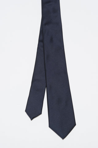 Strategic Business Unit - 00153 - Cravatta Skinny Di Seta A Punta Blue - Skinny Pointed Tie In Blue Silk - ブルーシルクスキニー尖ったネクタイ