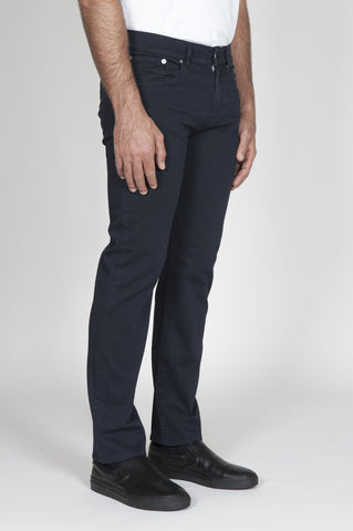 Strategic Business Unit - 00175 - Jeans Tinto Blue Scuro Slim Fit Anatomic Cut - Jeans Dark Blue Dyed Slim Fit Anatomic Cut - ジーンズ青はスリムフィット解剖学的カットを染め